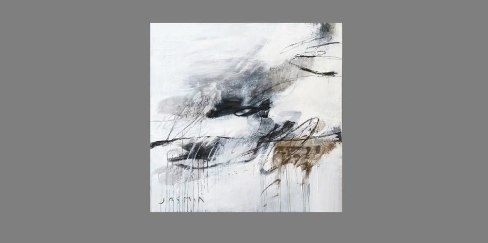 Black Lines 3. 120 x 120cm.