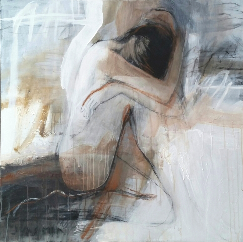 Sill. 100 x 100cm mixmedian on canvas