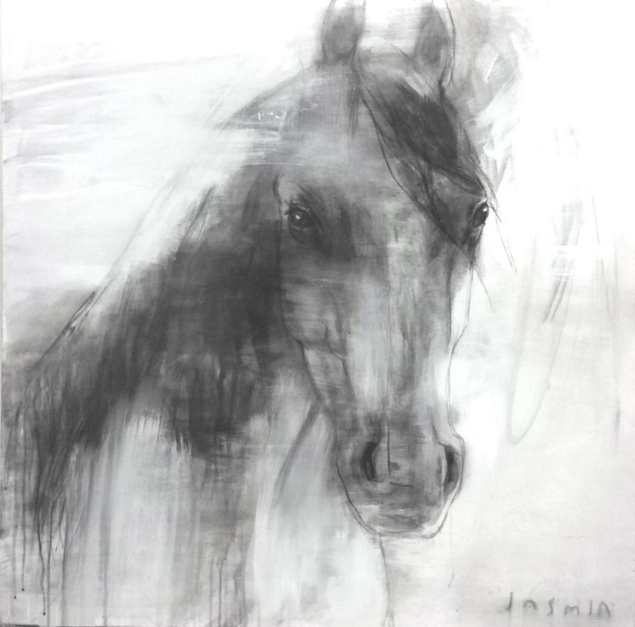 'Wild One 1'. 100 x 100cm