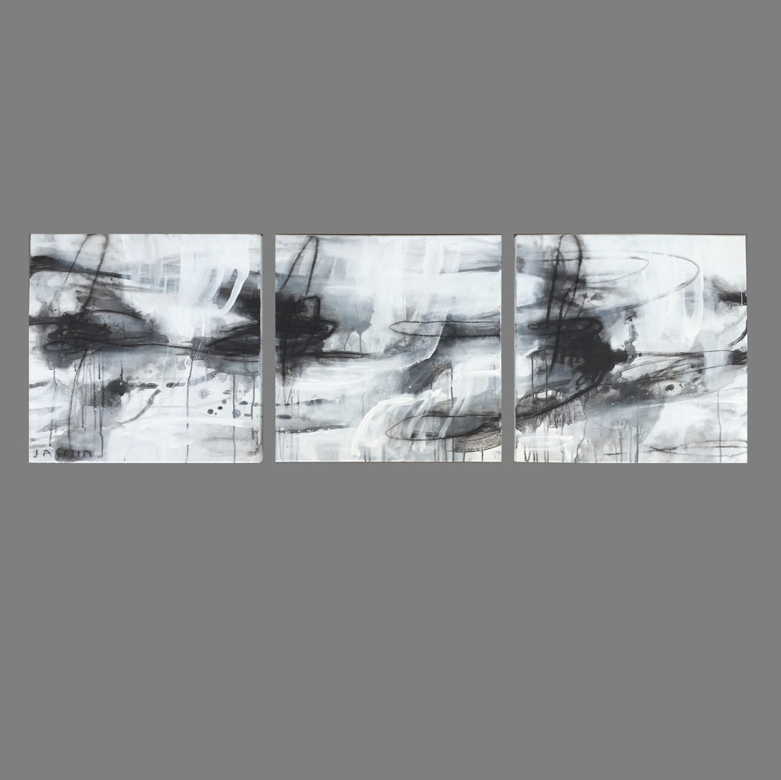 Black Lines 4. triptych