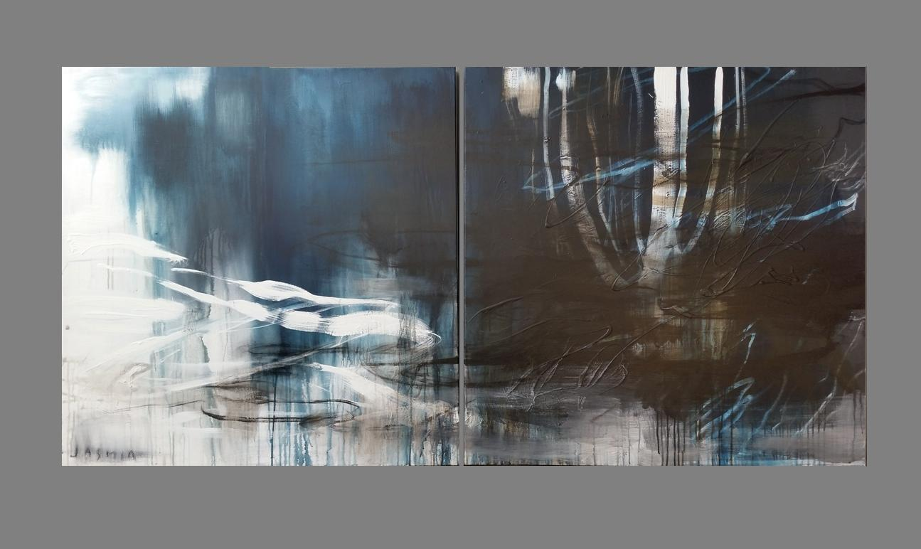 'Indigo 3.' 100 x 100cm x 2