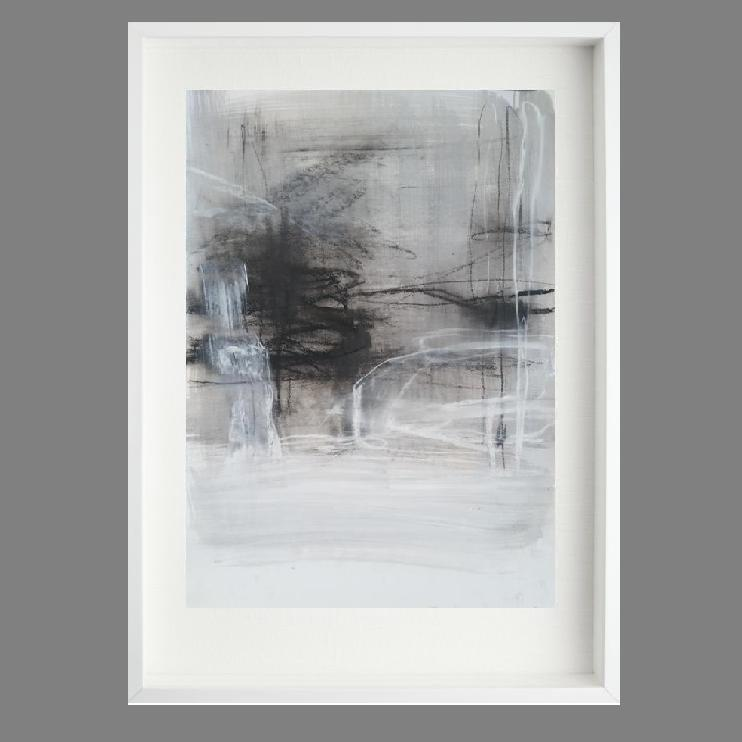 Linen 1. Print Series. White box frame