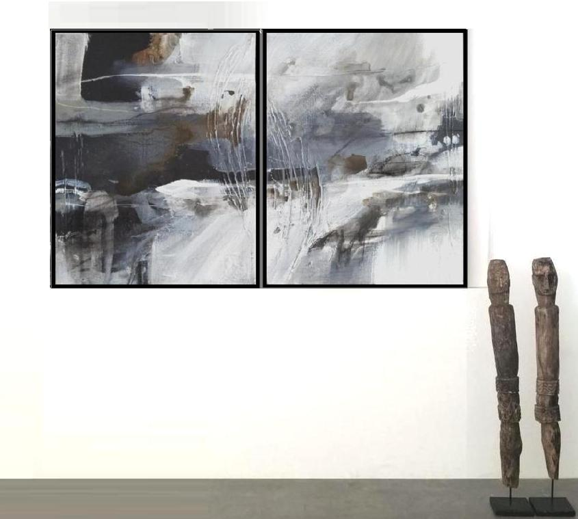 'River1. Print Series. Diptych'. Insitu