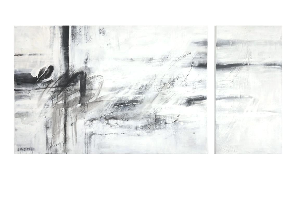 'Black Lines 7. Diptych'..
