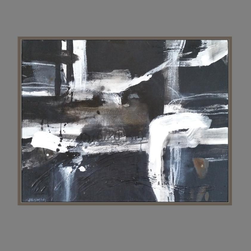 'White Lines 1. Print Series.' 80 x 90cm..