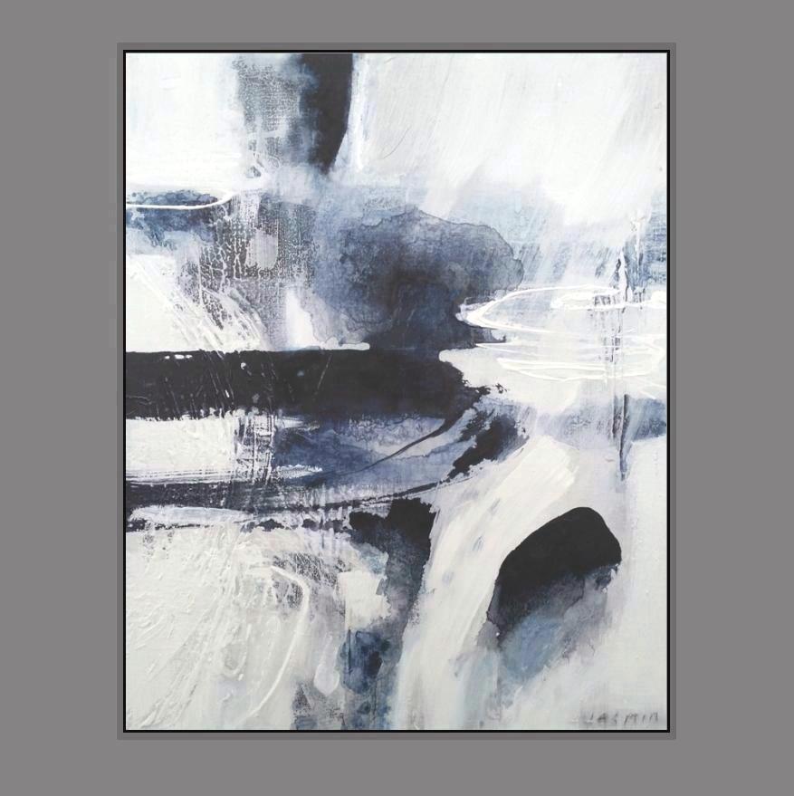'Dark Indigo 1. Print Series'. 90 x 80cm--