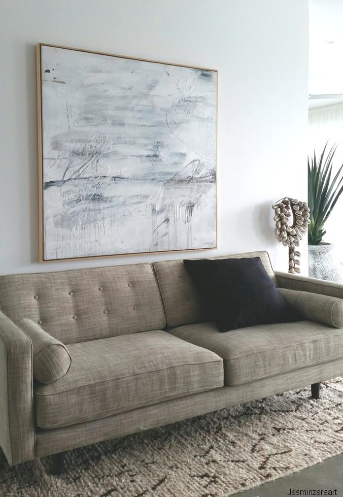 White on White 1.\' 120 x 120cm mixmedia on canvas / box frame