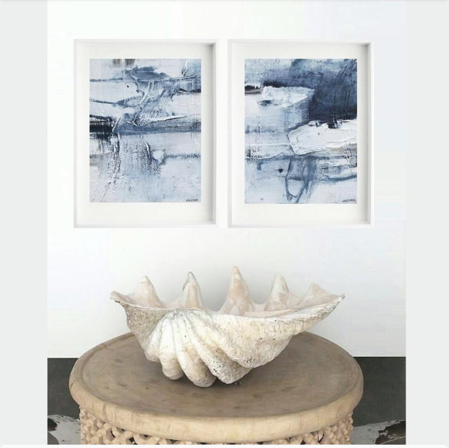 'Rock pool 1. & 2. Print Series'. insitu..