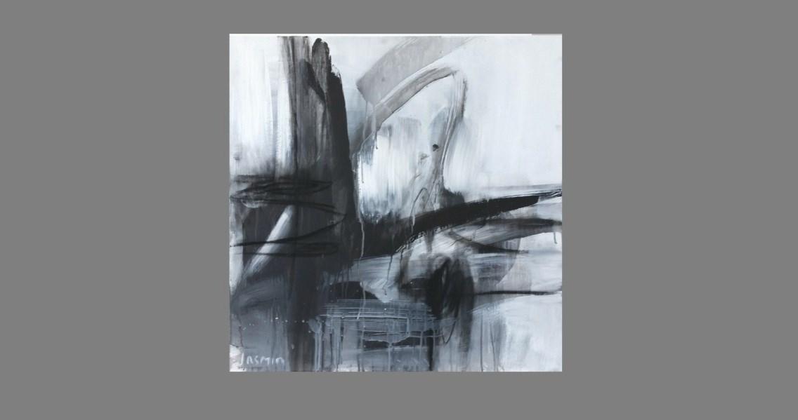 'Black Lines 5'. 75 x 75cm – Copy