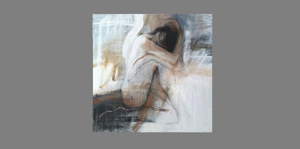 Still 100 x 100cm mixmedia on canvas.