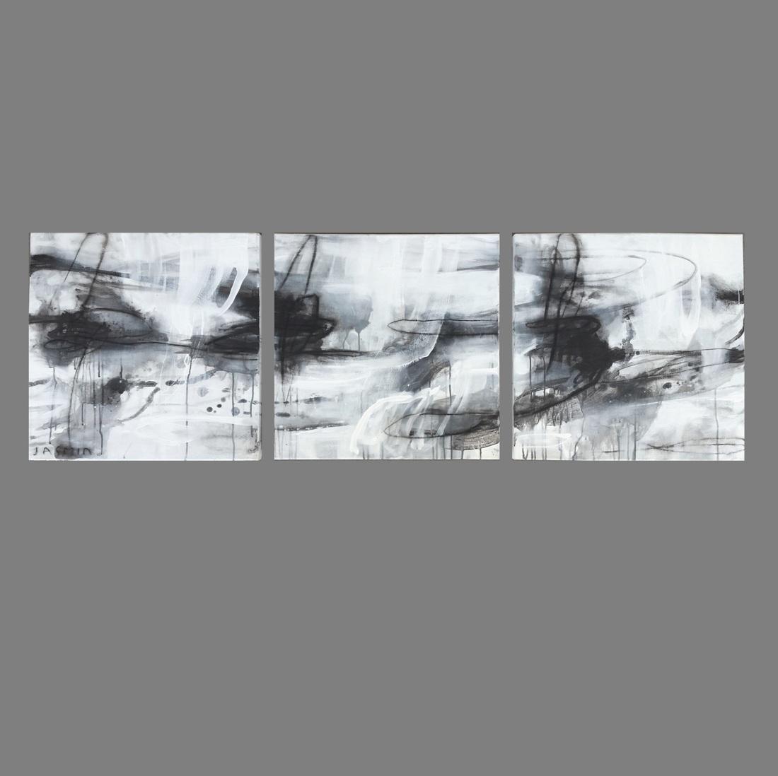 Black Lines 4. triptych
