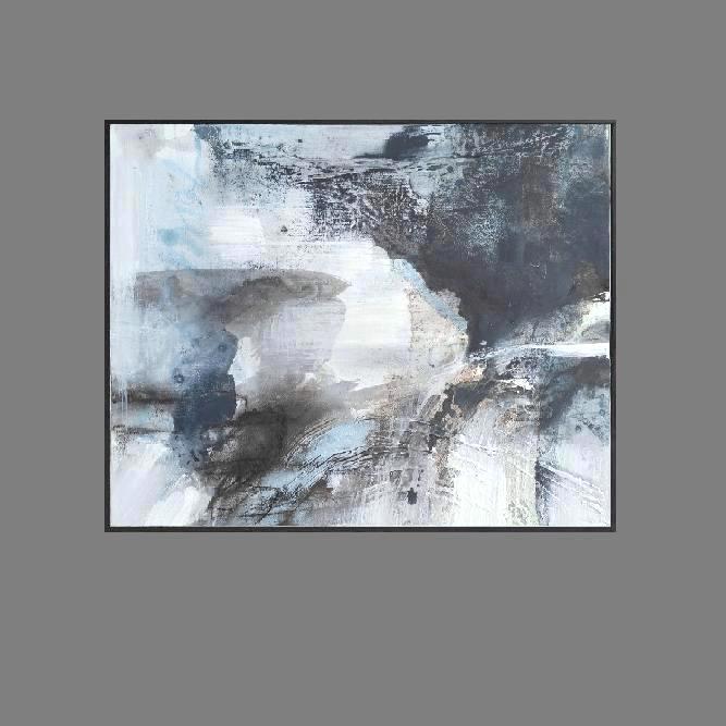 'Behind the Clouds 1. Print Series'. black frame