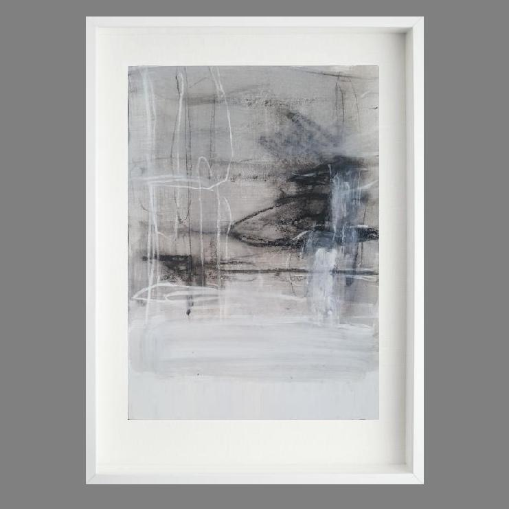 Linen 2. Print Series. White box frame