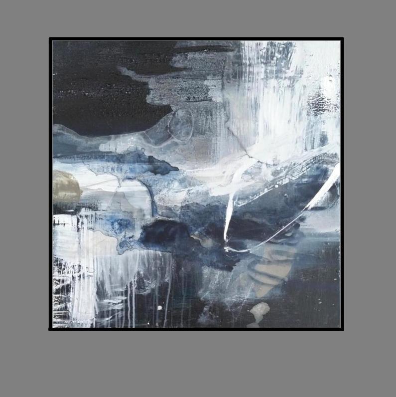'Night Sky 2. Print. Series'.black. frame