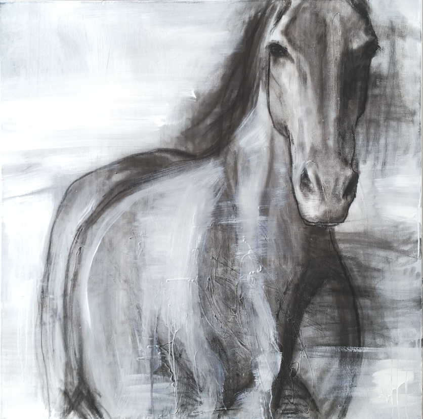'Wild One 3'. 100 x 100cm