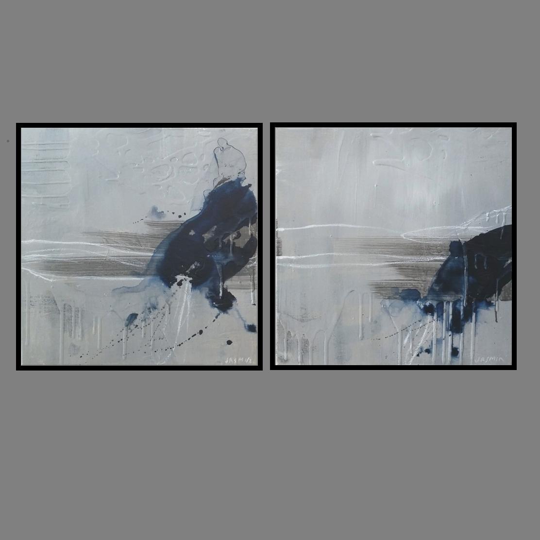 'Midnight 1.Print Series'. diptych 80 x 80cm x 2