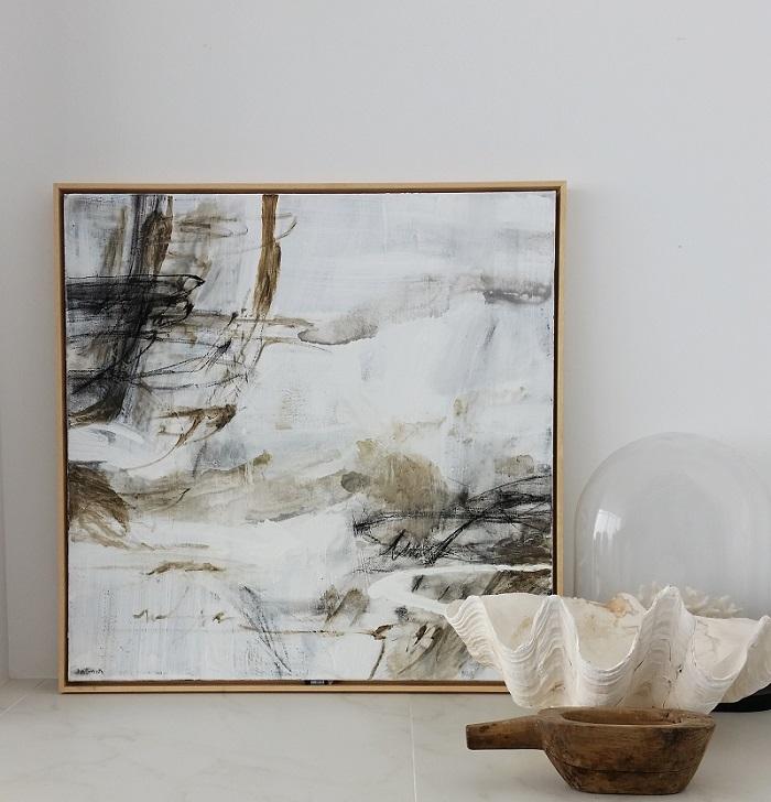 rust-on-white-2-75-x-75cm-framed-insitu
